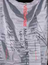 F1 oficial firmado Hamilton, Alonso Vodafone McLaren Mercedes de Fórmula 1 Bandera Nuevo en Paquete