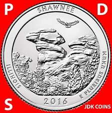 2016 PDS SHAWNEE NATIONAL FOREST (IL) QUARTER SET FROM UNCIRCULATED ROLLS