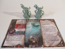 Folklore Dark Tales Lot of 2 BANSHEE Horror Miniature Figures with Game Card!!