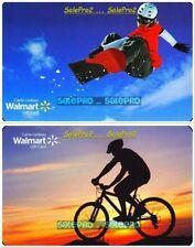2x WALMART CANADA MOUNTAIN BIKE SNOWBOARDING SPORT COLLECTIBLE GIFT CARD LOT