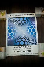 """EXPO AUBUSSON'S TAPESTRY VASARELY 1983 18"""" x 24"""" Rolled Art Poster Original"""