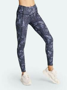 Anthropologie Varley Laidlaw Leggings Slate Floral Gray Size XS NEW $110