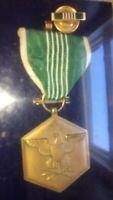 WWII Award For Military Merit Badge Ribbon Pin In Original Presentation Case