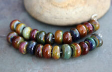 Earth Spacers -  Handmade Glass Lampwork Tiny Spacer Beads MTO
