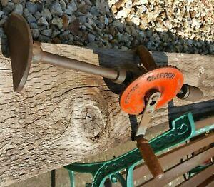 "Vintage Fleetway Clipper Hand Drill - 16"" Three Jaw Chuck - Old School Tool"