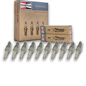 10 pc Champion 300 Copper Plus Spark Plugs for 14G22 2W9486 4106122 42XLS cf