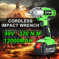 98VF 320NM 12000mAh Cordless Electric Impact Wrench Drill Screwdriver Car Torque
