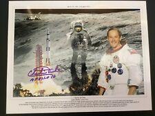 Apollo 16 Charlie Duke Hand signed photo Space Nasa