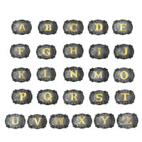 Men's Fashion Western Cowboy Initial Gold Letters A-Z Belt Buckle Accessory