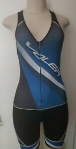 Voler Sync Cycling trisuit/shorts Womens X-SMALL Blu/Blk/Wht Compression Padded