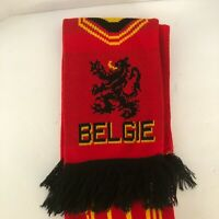 Belgie Rode Duivels Soccer Football Scarf Belgium Made in UK Red Yellow