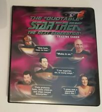 More details for quotable star trek next generation binder with auto (rittenhouse, 2005)