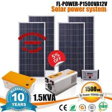 1.5Kva Solar panel system 110V / 220V Ac solar energy Free electricity Diy Kit