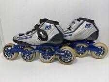 Powerslide R2 Skates Size US 10 Blue Silver