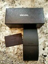 Prada Saffiano Black Sunglasses Hard Case with Cleaning Cloth - Brand New