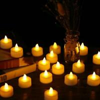 24 pcs Flameless LED Candle Battery Operated Tea Light Flickering Wedding Easter