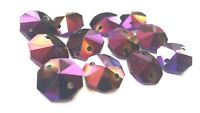 50 Golden Plum Octagon Chandelier Crystal Beads Octagons