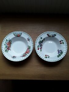 ROYAL ALBERT TWO DISHES APRICOTS AND GRAPES PERFECT