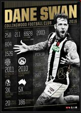 Dane Swan Signed Official AFL Collingwood Retirement Print ONLY Brownlow #36 COA