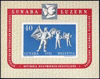 SCHWEIZ 1951, Block 14, tadellos postfrisch, Mi. 260,-