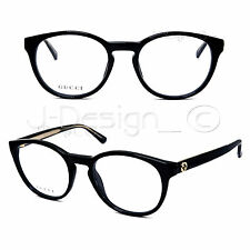 GUCCI GG 3847 Y6C Black Gold Large 50/19/140 Eyeglasses Rx Made in Italy - New