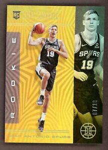 2019-20 Illusions Basketball Luka Samanic SPURS #177 Rookie RC Gold /10