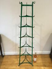 More details for large vintage painted metal kitchen tripod tower with pot racks and hooks.