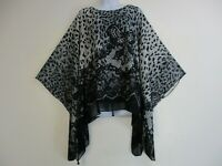 Saloos Black Grey & Cream Kaftan Top with attached Cami Sizes 12,14,16,18,20,22