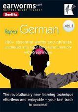 Earworms Musical Brain Trainer  Rapid German Vol. 1 (2008, CD) Free Shipping