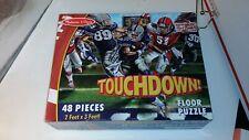 Melissa & Doug Touchdown 48 Piece Floor Puzzle Football Complete 2' x 3' #4418