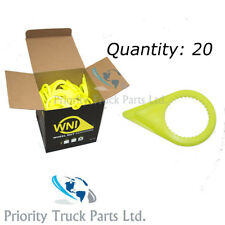20 x WNI Truck Wheel Nut Indicators 19mm - Yellow