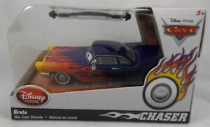Disney Store Exclusive CARS 2 GRETA CHASER ED Diecast Collector Car New