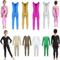 UK Girls Kids Ballet Dance Leotards Unitards Bodysuit Jumpsuit Gymnastic Costume