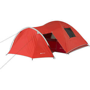 Dome Tent 4 Person Outdoor Camp Sleep Shelter w/ Vestibule and Full Coverage Fly