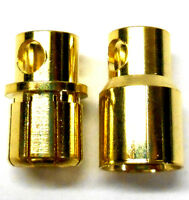 C0801 RC Connector 8mm Gold Plated Male and Female Bullet Banana x 1 Set