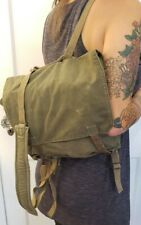 Euro Military Surplus Vintage Convertible Backpack Purse Messenger Bag