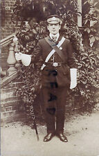 WW1 ? Bandmaster or Drum Major CLB Church Lads Brigade holding Mace
