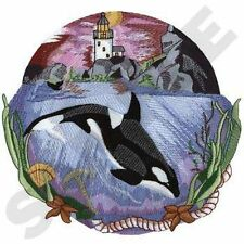 "Whale, Orca, Killer Whale, Marine, Nautical, Embroidered Patch 8.4""x 8"""
