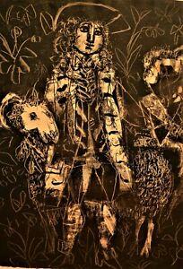 Antoni Clave Sanmartin Original Vintage Voltaire Candide or Optimist Lithograph