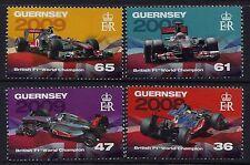 2011 GUERNSEY F1 BRITISH WORLD CHAMPIONS SET OF 4 FINE MINT MNH/MUH