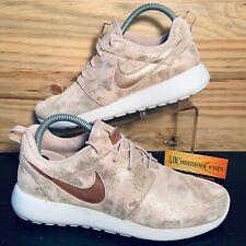 Nike Roshe One Premium Women's Running Shoes Size 8.5 Rose Gold Metallic NEW