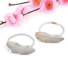 2Pcs Women Lady Hair Band Rope Holder Leaf Headband Ponytail Elastic Accessories