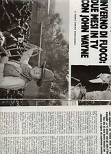 SP32 Clipping-Ritaglio 1980 Due mesi in tv con John Wayne