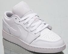 Air Jordan 1 Low GS Older Big Kids' Triple White Lifestyle Sneakers Shoes