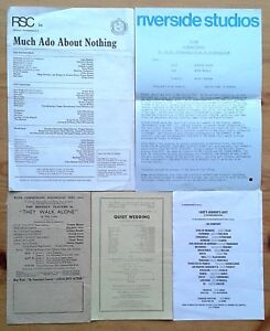 Single/individual theatre cast lists and cast change inserts