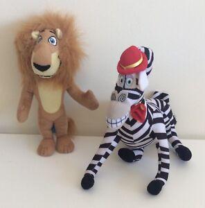 The Lion 23 Cms & The Zebra 20 X 23 Cms Plush Toys From Madagasca