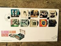ROYAL MAIL FIRST DAY COVER STAMPS: CLASSIC ALBUM COVERS 7.1.2010 STONES ETC.