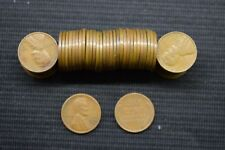 Full Roll of 50 UNCLEANED Wheat Penny Cent 1953 S