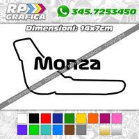 ADESIVO sticker CIRCUITO DI MONZA Formula 1 AUTO
