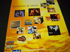 Blumchen Craig David 2Be3 Scooter Orange Blue others 2000 Promo Display Ad mint
